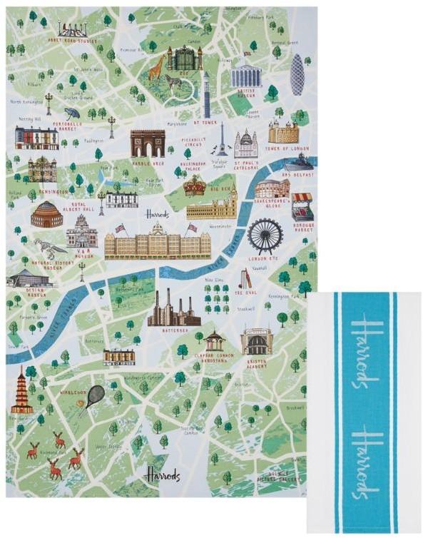Harrods London Guide Tea Towel Set