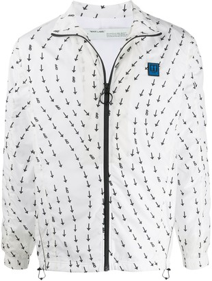 Off-White Arrows Print Lightweight Jacket
