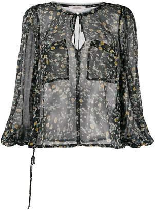 Schumacher Dorothee floral print pocket blouse