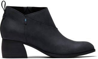 Toms Black Leather Leilani Women's Booties