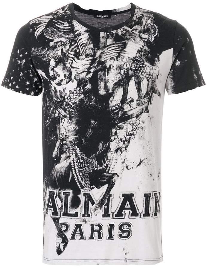 Balmain Mariniere print T-shirt