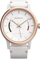Garmin Unisex Vívomove Classic White Leather Strap Activity Tracking Smart Watch 42mm 010-01597-13