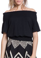 Plenty by Tracy Reese Off-The-Shoulder Smocked Top