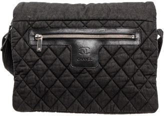 Chanel Grey Quilted Fabric Coco Cocoon Single Flap Messenger Bag