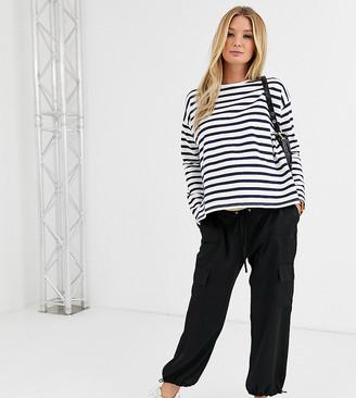 Asos DESIGN Maternity pocket detail utility pants-Black