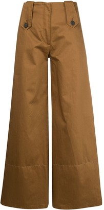 Delada Wide Leg High-Waisted Trousers