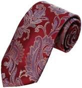 YAEB0026 Orange Blue Paisley Fitness For Husband Woven Jacquard Silk Tie Classy Formal Wear Skinny Tie By Y&G