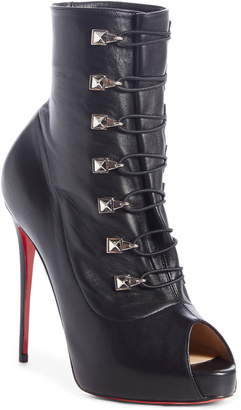 Christian Louboutin Frenchissima Peep Toe Bootie