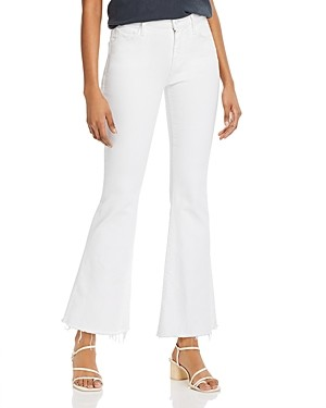 Mother The Weekender Frayed Flare Jeans in Fairest Of Them All