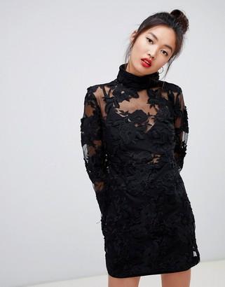 Daisy Street high neck mini dress in lace
