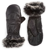 URBAN RESEARCH Women's U|R Leather Tech Mittens