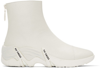 Raf Simons White Cyclon Sneakers