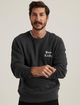 Lucky Brand Born Lucky Sueded Fleece Crew Neck