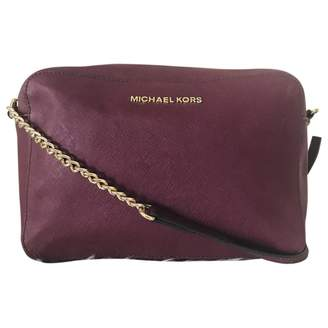 Michael Kors Purple Leather Clutch bags