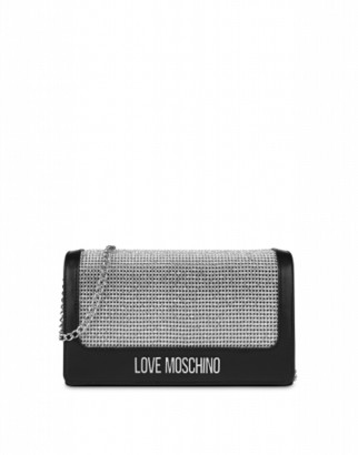 Love Moschino Evening Bag With Crystals Woman Silver Size U It - (one Size Us)