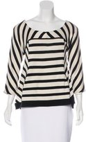 Diane von Furstenberg Striped Silk Sweater