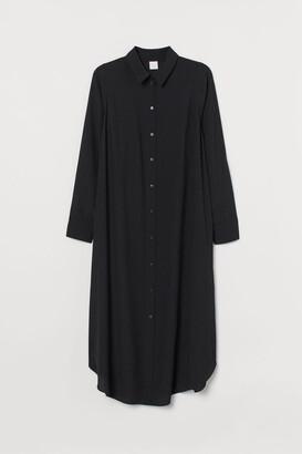 H&M H&M+ Calf-length shirt dress - Black
