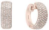 Effy Final Call Diamond & 14K Rose Gold Hoop Earrings/0.63