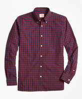 Brooks Brothers Buffalo Check Broadcloth Sport Shirt