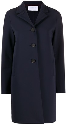 Harris Wharf London Fitted Buttoned Up Coat