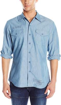 G Star Men's Utility Fridom Chambray Long Sleeve Button Down Shirt