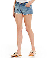 Levi's Authentic Shortie Frayed-Hem Cutoff Studded Denim Shorts