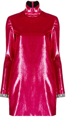 Philosophy di Lorenzo Serafini High-Neck Shift Mini Dress