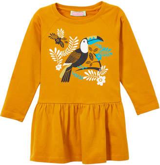 SAM. Sophie & Girls' Tee Shirts Yellow - Yellow Toucan Peplum Tee - Girls