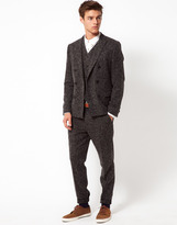 Asos Slim Fit Suit Pants in Charcoal Donegal