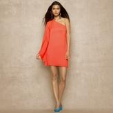 Ralph Lauren Blue Label One-Shoulder Satin Dress