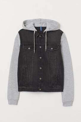 H&M Hooded Denim Jacket - Black