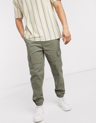 New Look cuffed cargo trouser in khaki