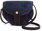 Jerome Dreyfuss Momo Leopard-print Suede Shoulder Bag - Blue