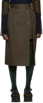 Sacai Green Trench Wrap Skirt