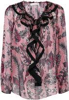 Chloé floral ruffled blouse - women - Silk - 34