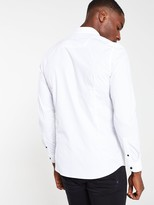 River Island White Long Sleeve Utility Shirt