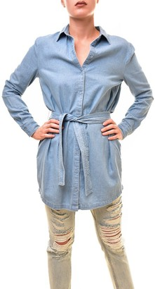 The Fifth Label Women's Blue Eyes Belted Shirt Dress