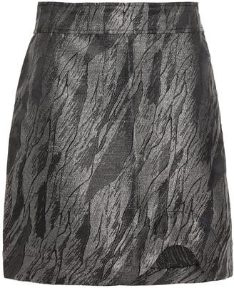 Ganni Metallic Jacquard Mini Skirt