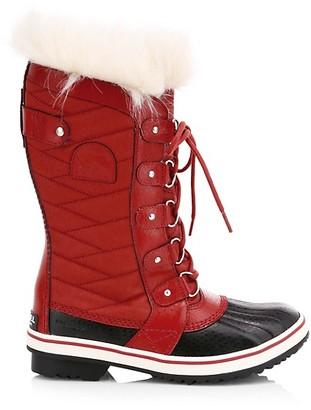 Sorel Tofino II Coated Canvas Faux Fur Winter Boots