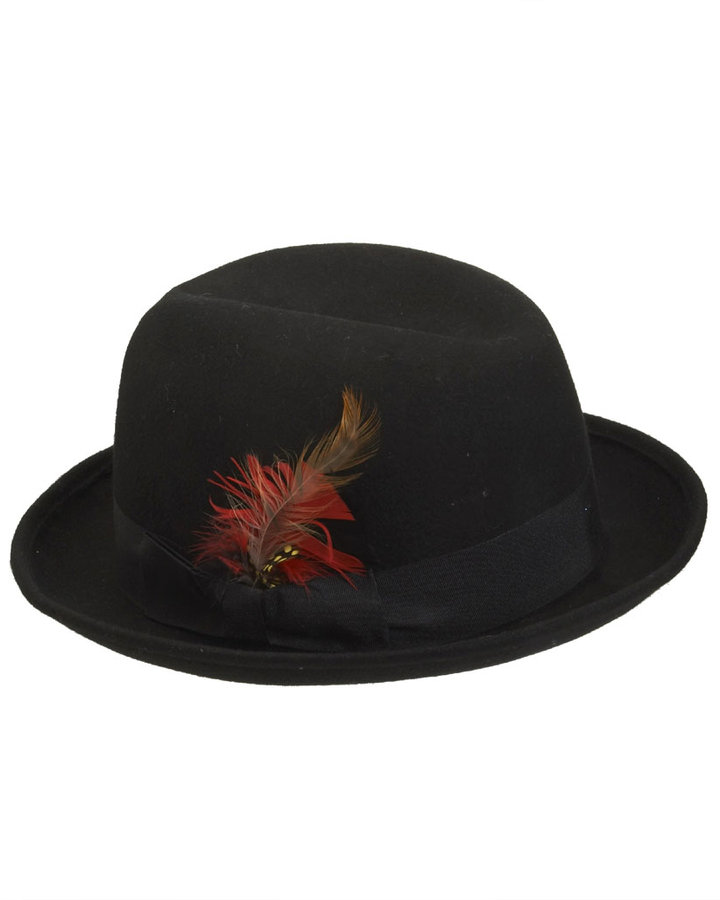 Wet Seal Feather Fedora Hat