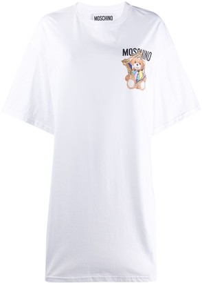 Moschino logo print T-shirt dress