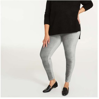 Joe Fresh Women+ Cord Legging, Grey (Size 2X)