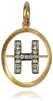 Annoushka Yellow Gold and Diamond Initial H Pendant