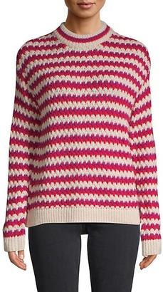 Rebecca Minkoff Striped Roundneck Sweater