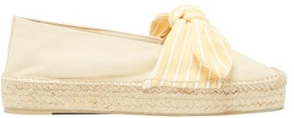 Castaner Kay Bow-tie Canvas Espadrilles - Womens - Yellow White