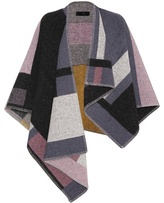 Burberry Check Wool And Cashmere Blend Cape