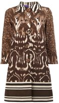 Herno animal print buttoned coat - women - Silk/Polyester - 40