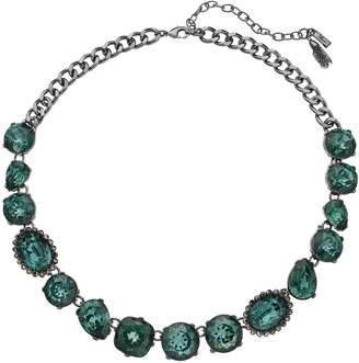 Vera Wang Simply Vera Green Simulated Crystal Chain Statement Necklace