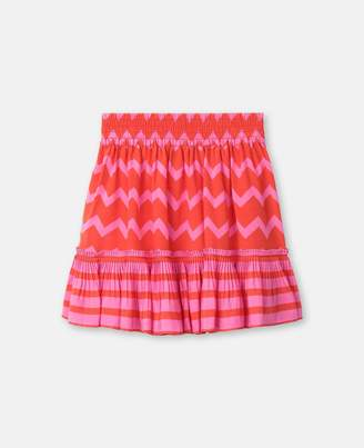 Stella McCartney Kids stripes tencel skirt