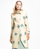 Brooks Brothers Jacquard Floral Motif Jacket